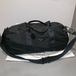 Authentic Prada duffle travel bag suitcase tote